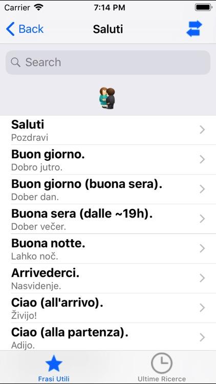 Frasi utili italiano-sloveno screenshot-4