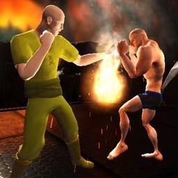 Superheroes Fighting Combat