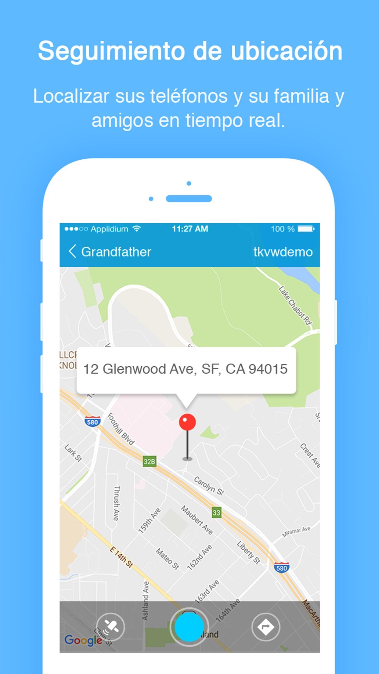 TrackView - Buscar teléfono Screenshot