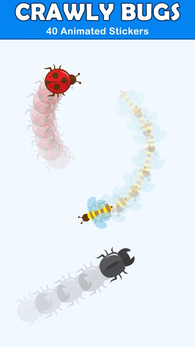 Crawly Bugs Animated Stickers screenshot 1
