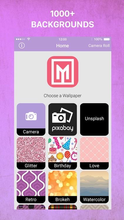 Wallpaper Maker- Make Monogram screenshot-3