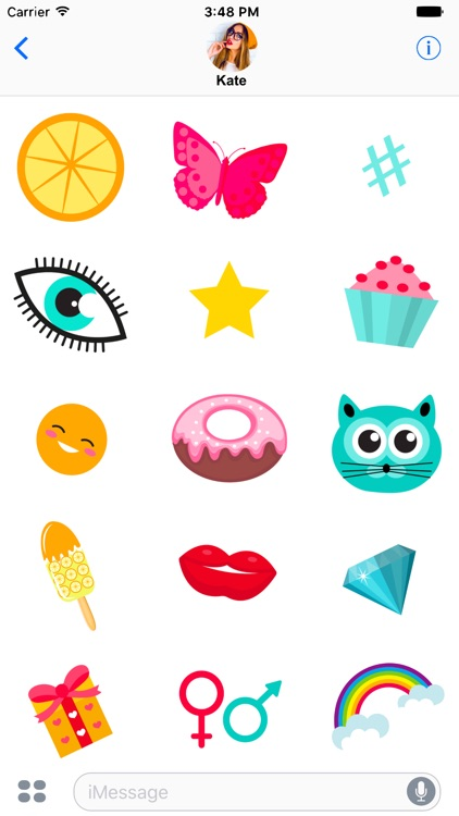 Retro Sticker Pack for message