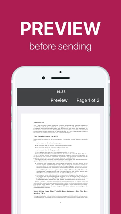 FAX app PRO: send fax from iPhone on the go Screenshot 4