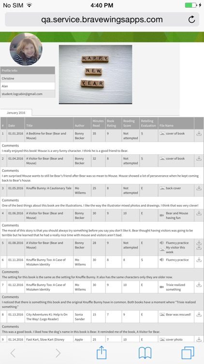 Reading Log Cabin screenshot-4