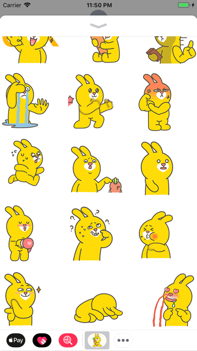 Yellow Bunny Animated Stickers screenshot two