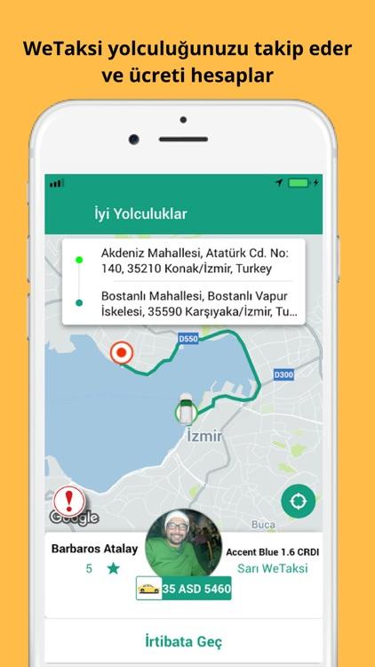 WeTaksi - İzmir'de Taksi Cepte screenshot-3