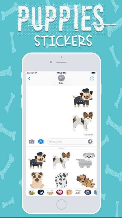 Cute Puppies Stickers! screenshot-3