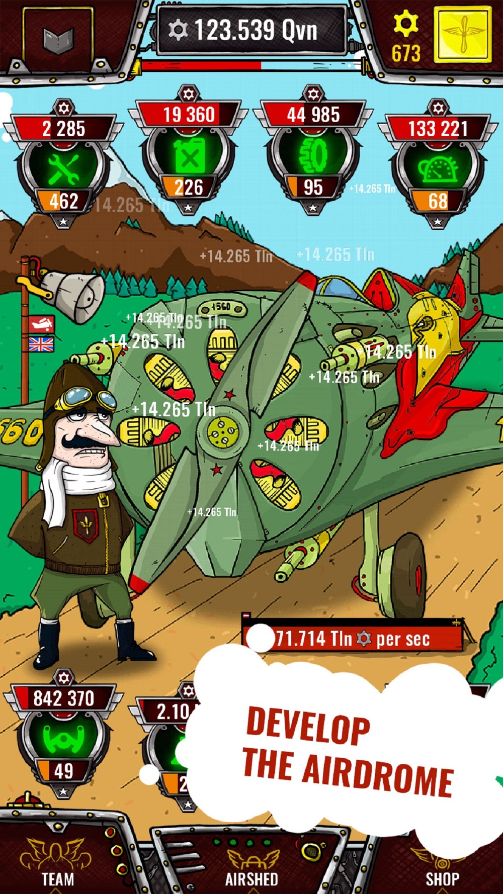 Aviator – idle clicker game