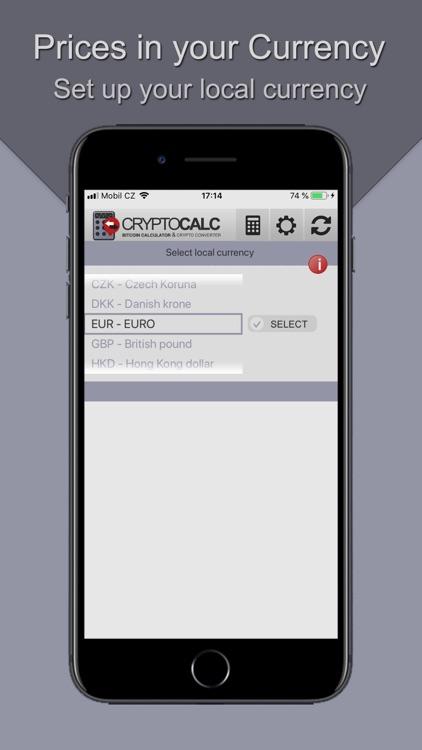 Bitcoin & Crypto Calculator screenshot-4