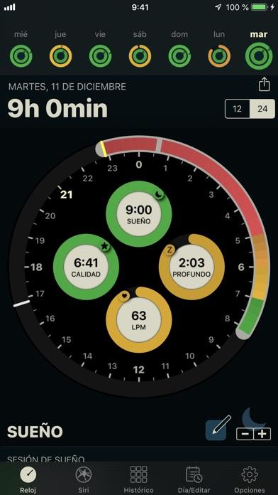 Screenshot for AutoSleep. Monitoriza tu sueño in Dominican Republic App Store