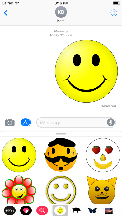 Yellow Smiley Sticker Pack screenshot two