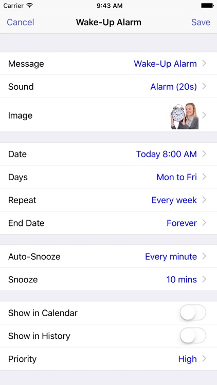 Reminders with Voice Reminder