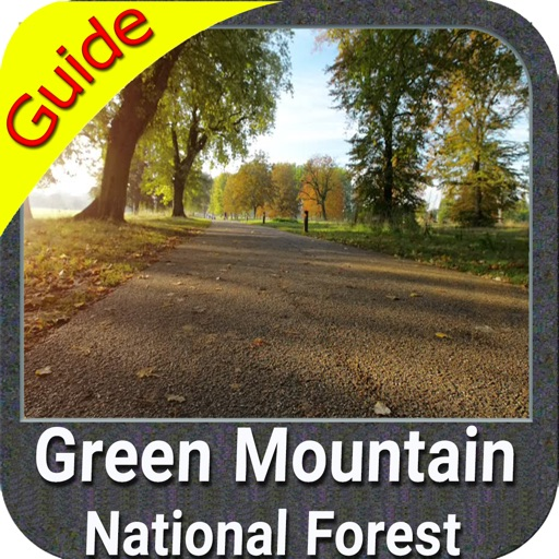 Green Mountain NF gps and outdoor map with Guide