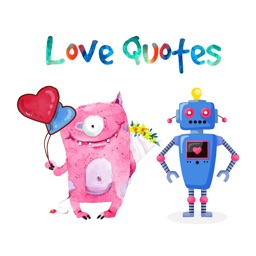 Love Quotes with Monster,Robot,Dinosaur Characters