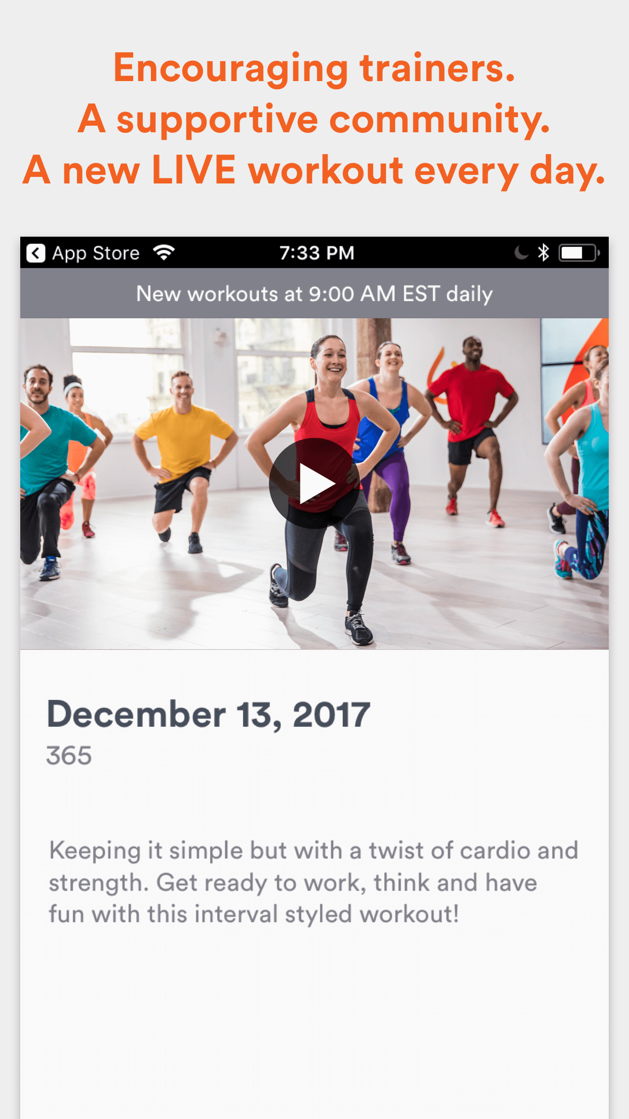 Daily Burn - Video Workouts Screenshot