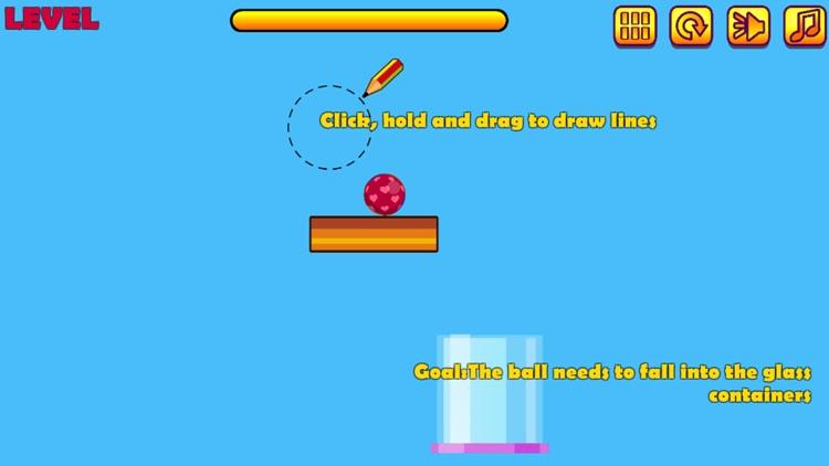 Physics Draw Line: Happy Ball screenshot-3