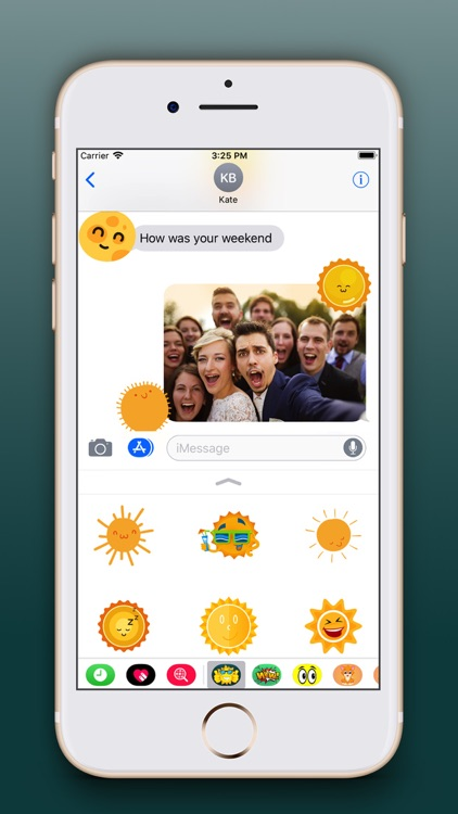 Sun Emoji Stickers Pro screenshot-3