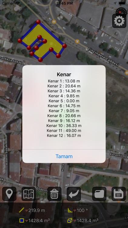 GPS Alan Ölçümü screenshot-5