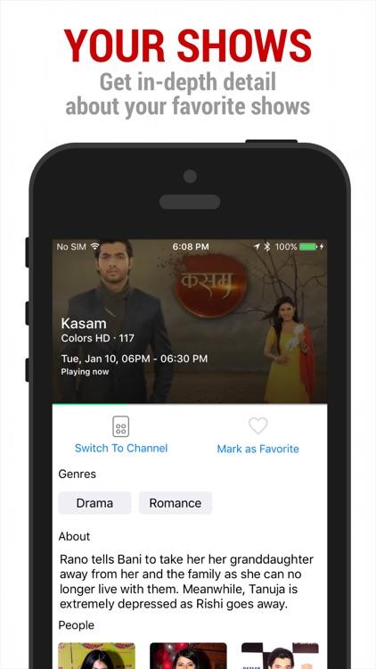 Sensy India TV Guide & Remote screenshot-4