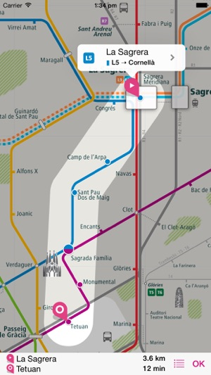 Barcelona Rail Map Lite on the App Store