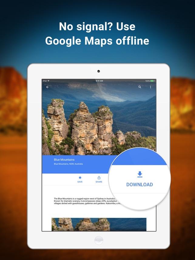 Google Maps GPS Navigation on