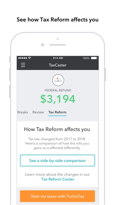 Taxcaster review screenshots