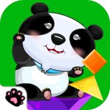 熊猫老师形状拼图