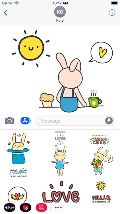 Funny Rabbit Emoji and Sticker