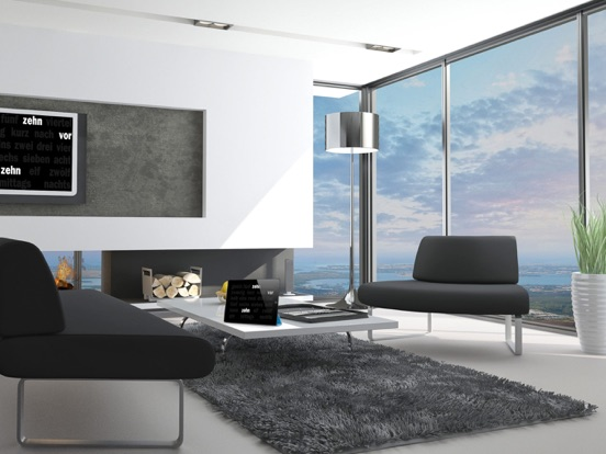 die zeitschrift app macht aus dem ipad eine stylische uhr. Black Bedroom Furniture Sets. Home Design Ideas