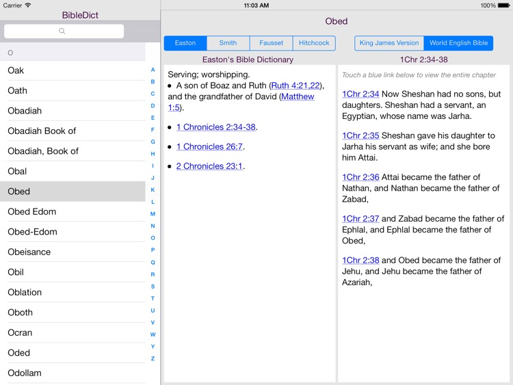 BibleDict for iPad