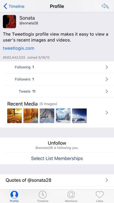 Tweetlogix For Twitter review screenshots