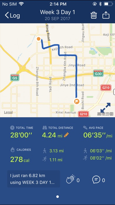 Couch to 5K® - Run training Screenshots