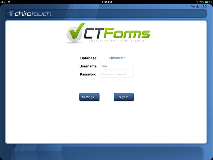 CT Forms Mobile 7.0