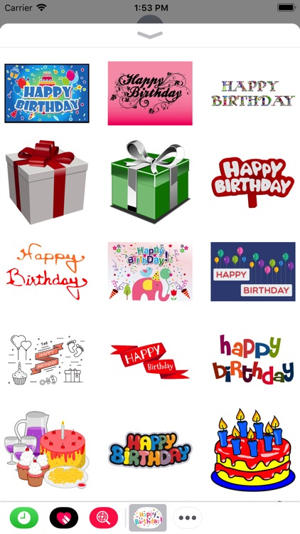 Happy Birthday Stickers 2017 screenshot-0