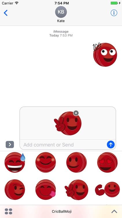 Cricket Ball Emoji - Stickers & Animations screenshot-4