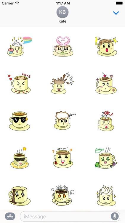 A Cup of Coffee Emoji Sticker