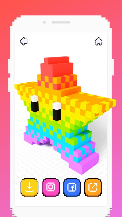download Voxel - 3D Color by Number apps 1