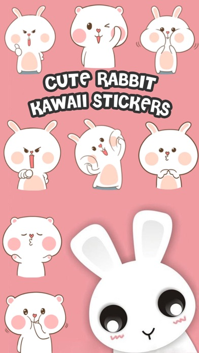 Cute Rabbit Kawaii Stickers screenshot one