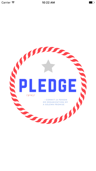 Pledge App screenshot one
