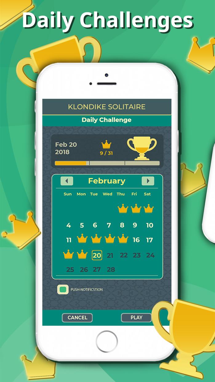 Solitaire Klondike Classic. Screenshot