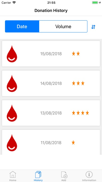 Blood Donor Diary screenshot-1