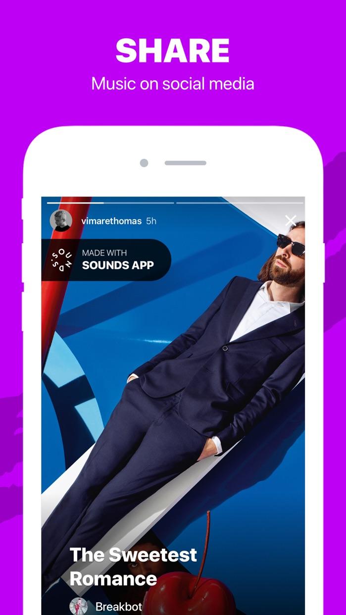 Sounds App Music Video Editor Screenshot