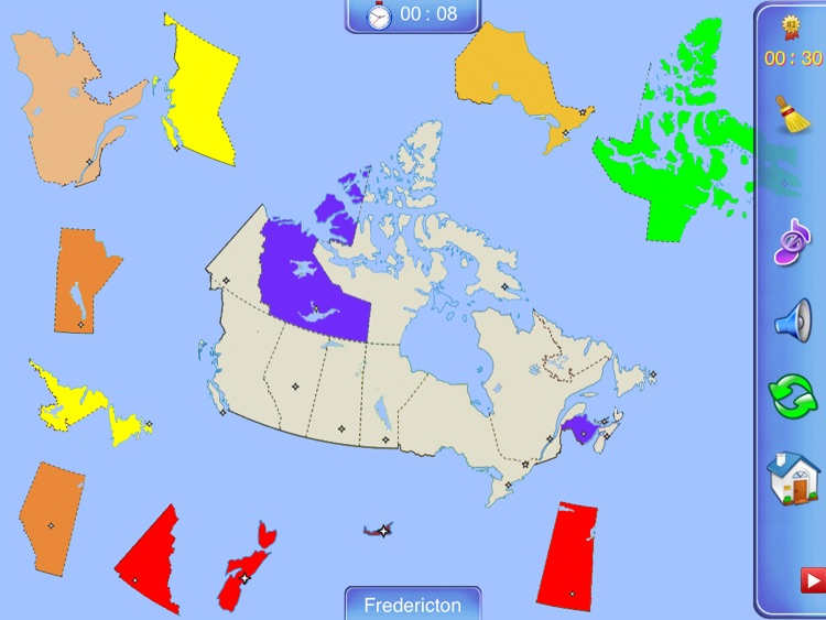Map Of Canada Puzzle.Canada Puzzle Map By Jenny Sun