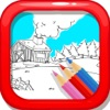 Colorful Diary: Coloring Farms