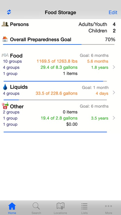 Home Food Storage screenshot-0