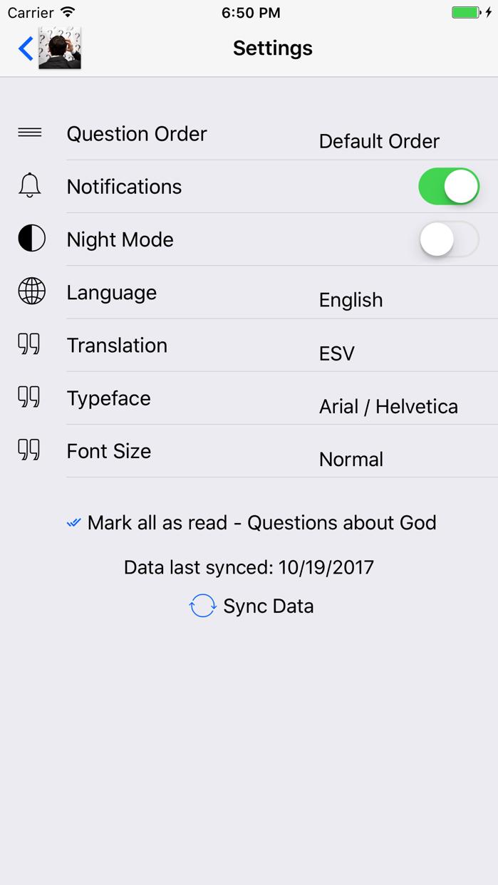 Got Questions? Screenshot