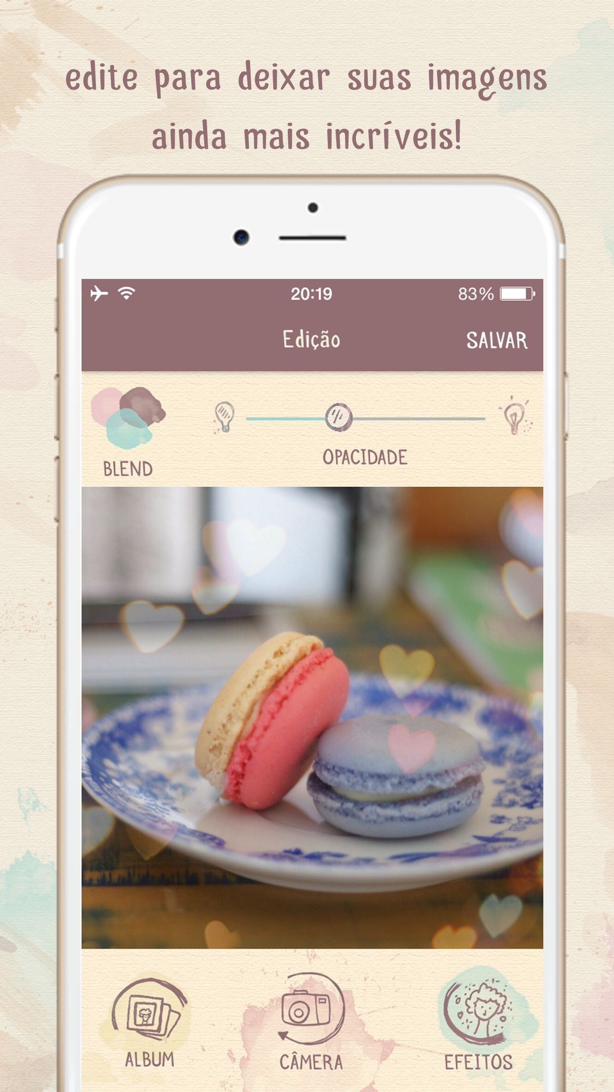 Screenshot do app Lumiè