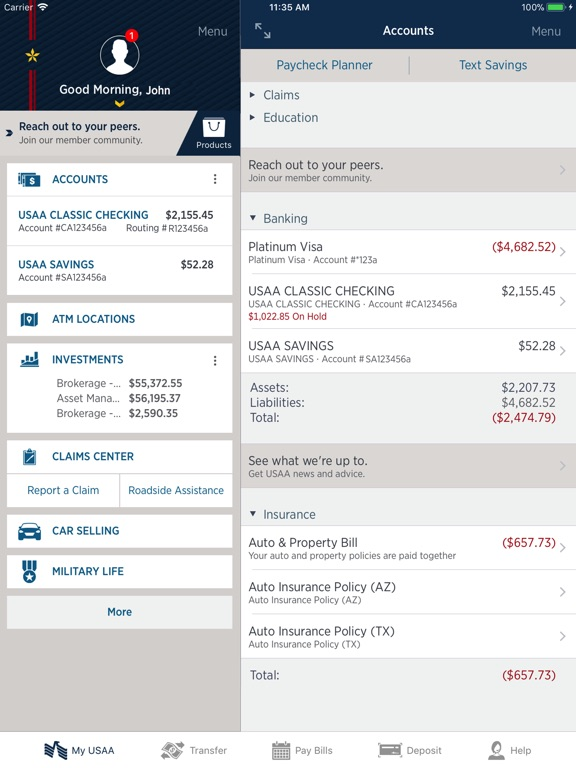 USAA Mobile iPad