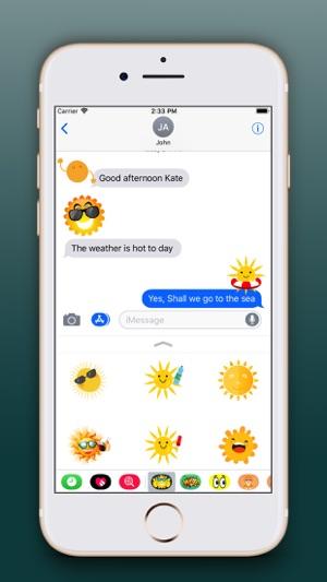 Sun Emoji Stickers Pro