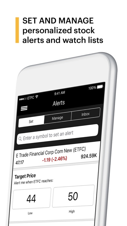 E*TRADE: Invest. Trade. Save. screenshot-3